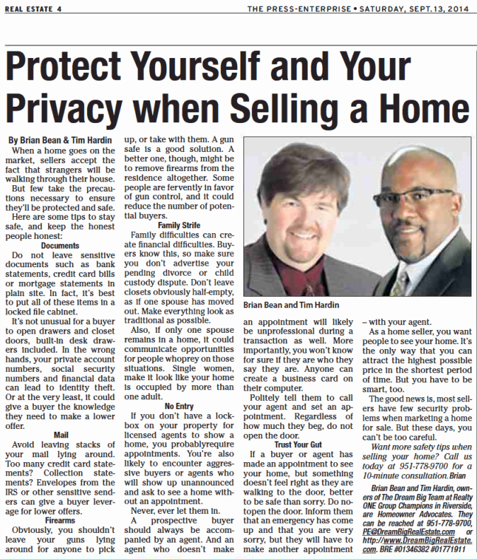 protect yourself and your privacy when selling a home brian bean and tim hardin homeowner. Black Bedroom Furniture Sets. Home Design Ideas